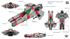 Valantis Overview (CK-MCMLXXXI) Tags: lego moc space police sp2 starfighter overview sheet specc valantis
