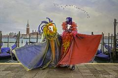 Venezia, Carnevale 2015: inquietanti maschere, disturbing masks (adrianaaprati) Tags: carnevale maschere venice masks panorama birds 2015 winter carnival venezia