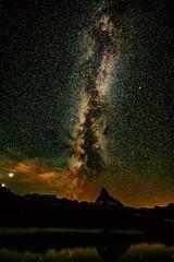 Milkyway vs. Matterhorn (atzestrakk1) Tags: berge alpen langzeitbelichtung nachts weltall astronomie astronomy milchstrasse milchstrase nacht night switzerland star stars longtimeexposure schweiz suisse milkyway zermatt