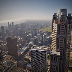 Over LaSalle Street Station (michael.veltman) Tags: chicago illinois loop looking south