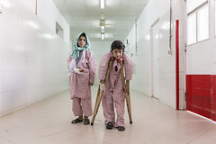 Meet Walas Bibi and Zubaida, two girls wounded by war in Afghanistan (EU Civil Protection and Humanitarian Aid Operation) Tags: afghanistan middleeast hospital patient girl personalstory aid humanitarian healthcare warvictim europeanunion emergency medical crutches rehabilitation
