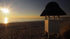 Morning light - this morning at the beach (Ostseeleuchte) Tags: thismorningatthebeach morgenlicht morninglight beach ostsee balticsea strandmitumkleidekabine gegenlicht haffkrug
