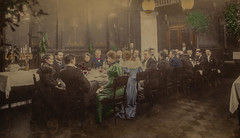 Early Finnish photographers enjoying dinner (1897 ) (frankmh) Tags: people photographers 1897 hotelkämp helsinki finland dinner restaurant vintage nineteenthcentury