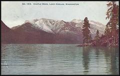 c. 1907 Lowman & Hanford Co., Postcard - View of Castle Rock, Lake Chelan, Washington, USA (Treasures from the Past) Tags: castlerock lakechelan washington postcard hazelmere 1907 jameslowman clarencehanford