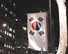 Flag (RW Sinclair) Tags: green seoul korea gangnam fujifilm fujinon xt1 xf56mmf12r xf56 56mm bokeh bokehporn winter 2019 february