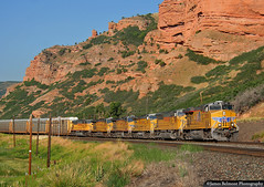 Elephant Style x 6 (jamesbelmont) Tags: unionpacific qwcnp echocanyon utah train railroad railway locomotive emd sd9043mac ge ac4400accte ac4400cw evanstonsubdivision echo
