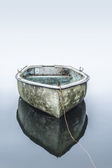 Something and nothing (Rob Scamp) Tags: boat mist misty lake minimal availablelight naturallight nikon robscamp d810