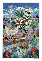 Journey (Jack Teagle) Tags: gnomes fantasy bleak death melancholy drawing illustration travel explore adventure insects sadness rain digitalart