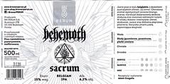 Poland - BR Perun S.A. (Budziszyn) (cigpack.at) Tags: budziszyn brperunsa peru polen poland sacrum belgianipa bier beer brauerei brewery label etikett bierflasche bieretikett flaschenetikett behemoth piaseczno