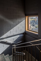 Cooney Architects _ Kilmainham Office and Training Centre _ 2018 _ Dublin _ Stairwell (SteMurray) Tags: review cooney architects architecture ireland irish stemurray steie hairdressing school academia architectural photographer photography tall building shadows facade light