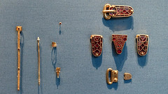 Sutton Hoo buckles and assorted pieces