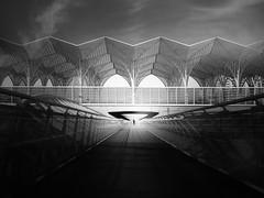 "...endlessdreams... (*ines_maria) Tags: lisboa lissabon portugal infinity station gare de do oriente metro man light perspective architecture bw monochrome ""urban exporation"" city landmark"