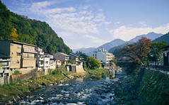 Japanese river side (KaeriRin) Tags: sony 28mm20 28mm travel landscape buildings architecture japanese japan gifu prefecture gujohachiman sky nice weather mirrorless