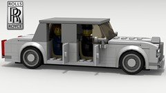 Rolls Royce Silver Shadow (new) (with passengers) (LegoGuyTom) Tags: rolls royce classic vintage 1960s 1970s 1980s british britain engine european europe luxury car cars limo limousine lego ldd legos digital designer city povray pov power dropbox download lxf legodigitaldesigner legocity rollsroyce