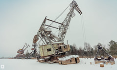 Pripyat dock cranes (Mr Sovieticus) Tags: chernobyl pripyat cranes winter frozen cold frost cool