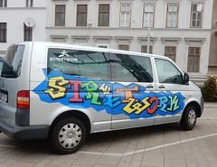 What kind of 'street work' I wonder .... (mikecogh) Tags: vienna van business promotion name streetwork