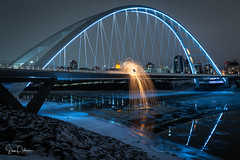 Walterdale Bridge (Exhorseman) Tags: yeg yegthecity yegphotographer igyeg longexposure weownthenightab weownthenight exploreedmonton explore sharecangeo yegexplore wildlycreative imagesofcanada nikon d750 beedmonton mustbeedmonton yegers dailyviewedmonton yegriver rivercity finesteelwool steelwool steelwood steelwoolphotography steelwoolspinning creative fire night nightphotography lightpainting sparks yegarchitecture skyline city bridge northsaskatchewan walterdale walterdalebridge alberta capitalcity