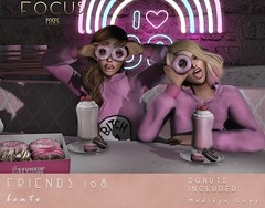 Friends 108 ([ Focus Poses ]) Tags: cosmopolitan second life event donuts bento poses
