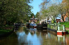 The Canal at Audlem (Eddie Crutchley) Tags: europe england cheshire audlem outdoor simplysuperb shropshireunioncanal narrowboats reflections water barge greatphotographers