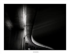 Curve and Stripes... (michel di Méglio) Tags: urban urbain underground subway metro olympus zuiko marseille cityscape bw silverefexpro noiretblanc monochrome light shadow ombre lumière ville
