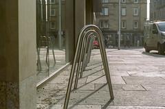 Bike Rake Portra 400 (separatesunsets) Tags: 35mm canonae1 edinburgh portra400 scotland uk colournegative film