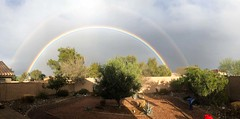 Two rainbows... 20190203_5903 (listorama) Tags: rainbow usa arizona maricopa sky panorama
