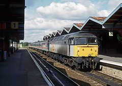 47186, March, September 1992 (David Rostance) Tags: 47186 class47 march railwaystation cambridgeshire