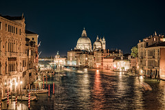 venice (RickybanPhotography) Tags: venice travel canal night water vacation italy architecture churchs nightlights buildings