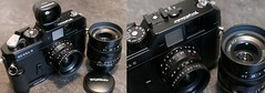 Bessa-R Rangefinder LTM M39 / Voigtländer Color Skopar 21/4mm Pancake + ULTRON 35mm F1,7 ASPHERICAL + Viewfinder + Camera grip (rainer.marx) Tags: voigtländer voigtlander 21mm 35mm analog film kleinbild rangefinder viewfinder colorskopar ltm 39mm leica kameragriff ultron aspherical fz1000 panasonic lumix