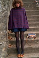 mauve--vintage-shorts-plaid-vintage-cape-brown-cole-haan-loafers_400 (rainand69) Tags: cape umhang cloak