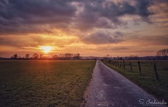 Sunset Walk (Stathis Iordanidis) Tags: afternoon walk tranquility serenity silence farmland farm nature amazinglandscape dramaticclouds dramaticsky sun sundown sunset