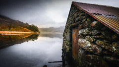 The boathouse... (Einir Wyn Leigh) Tags: landscape boathouse wales love nikon outside water lake door rural peace nature