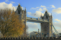 Tower Bridge 'Painting' (aFieW Photography) Tags: approved tower bridge england uk britain london clear sky winter painting colour color architecture buildings flag