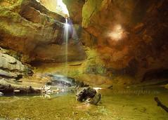 Conkle's Hollow Waterfall (2015) (.annajane) Tags: 9mm hockinghills ohio waterfall conkleshollow rock water usa log light reflection hocking