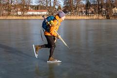 Kalle (David Thyberg) Tags: långfärdsskridsko winter nature skate sweden stockholm skating 2019 ice sverige rotebro se
