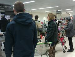 Challenge Friday 2019, week 9, theme stream (1) - steady stream of people going through the checkouts at Waitrose (karenblakeman) Tags: cf19 stream waitrose checkout people caversham uk 2019 march supermarket