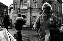 Drink (Bury Gardener) Tags: monochrome mono burystedmunds bw blackandwhite suffolk streetphotography street streetcandids snaps strangers candid candids people peoplewatching folks nikond7200 nikon england eastanglia uk 2018 cornhill