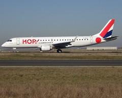 F-HBLE, Embraer ERJ-190LR (ERJ-190-100 LR), c/n 19000123, HOP! for airfrance, operated by Regional (YS-RAE-Regional Europe), CDG/LFPG 2019-02-15, taxiway Bravo-Loop. (alaindurandpatrick) Tags: a5 hop airhop ys rae regionaleurope regional hopforairfrance airlines erj embraer embraerregionaljet embraererj190 erj190 cn19000123 jetliners airliners cdg lfpg parisroissycdg airports aviationphotography