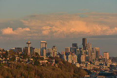 Magnolia Sunset Views 11 (C.M. Keiner) Tags: seattle washington usa city cityscape skyline mountains pacific northwest puget sound sunset magnolia hills clouds spring cherry blossoms