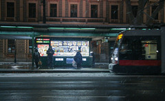 IMG_5831-16 (Goldenwaters) Tags: streetphotography lensculture subjective capturestreets canon50d 50d vienna wien citystreets winter snow snowing white winterweather europe trains tram tramstation trainstation trasport publictransport departure