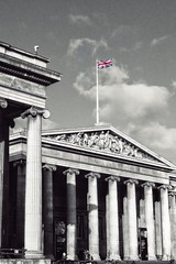 Rule Britannia – and all these sorts of things … (marc.barrot) Tags: selectivecolours building architecture greekrevival uk wc1 london bloomsbury greatrusselstreet britishmuseum