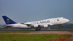 SaudiCargo B747-400SF TC-ACG EHBK 08-4-2019 (Rob_Elsloo) Tags: maa ehbk delta saucicargo b747400sf jumbojet tuchdown tcacg