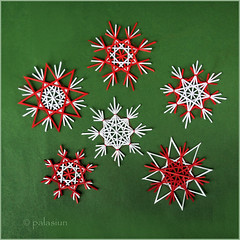 straw stars from paper (polelena24) Tags: straw star strips christmas snowflake paper crystal