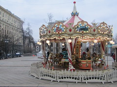 merry-go-round (VERUSHKA4) Tags: merrygoround canon europe russia moscow hccity view vue outdoor street square tverskayasquare march day spring people verushka4 season fun children building window fenetre lamp lights tree streetlamp architecture decoration beautiful holiday