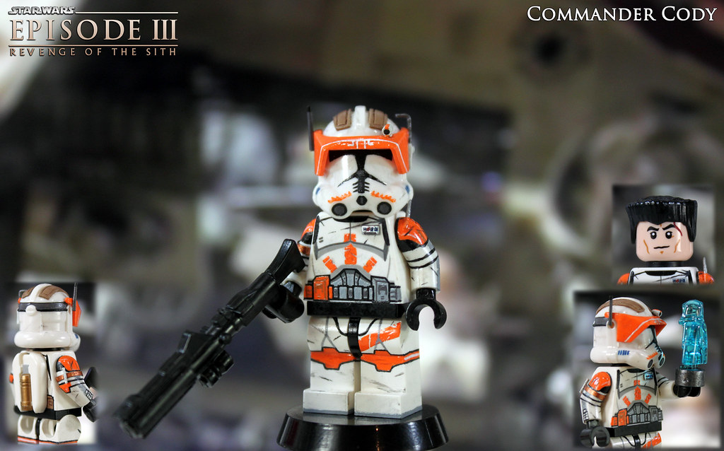 Lego Star Wars Clone Commander Bly Ep3 Custom Figure