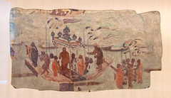 IMG_2011 (jaglazier) Tags: 123018 2018 7thcentury 7thcenturyad adults cambridge cave329 cavetemples chinese crafts december dunhuang flags gansu harvardartmuseum images massachusetts men museums painting paradise priests processions religion streamers tang usa art boats buddhist china copyright2018jamesaglazier fresco idols rituals transport