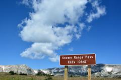 Snowy Range Pass (NaturalLight) Tags: snowyrangepass snowyrange pass sign wyoming highway130