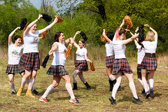 Cheerleaders (petr.petrov) Tags: rural scene field summer sun festival show live event fun traditional historical humor beltane russia historic gaelic scottish irish cultural culture traditions contest competition girl beauty