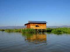 All I want is a little house by the lake (Claire Backhouse) Tags: lake house lakehouse architecture building water waterway life living home myanmar burma burmese bluesky morning clear clean noclouds thatch traditional tranquil peaceful quiet