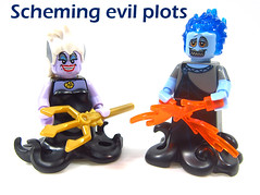 Scheming evil plots (WhiteFang (Eurobricks)) Tags: lego minifigures cmfs collectable walt disney mickey characters licensed design personality animated animation movies blockbuster cartoon fiction story fairytale series magic magical theme park medieval stories soundtrack vault franchise review ancient god mythical town city costume space